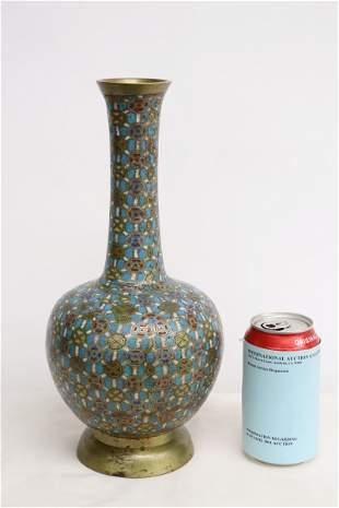 Chinese 19th/20th c. cloisonne enamel on bronze vase