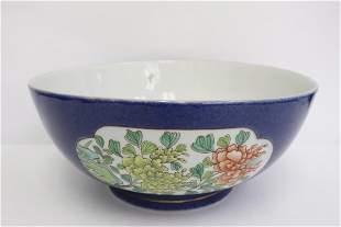 Chinese famille rose porcelain large bowl