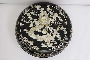 Chinese lacquer box with mother of pearl inlaid