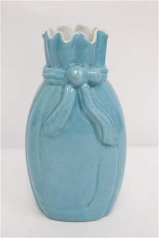 Fine Chinese sky blue glazed porcelain vase