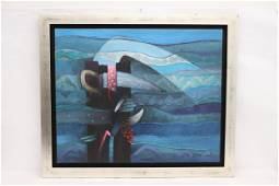 Abstract oil on canvas by Fernando De Szyszlo