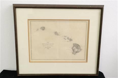 Hawaiian group/ Sandwich Islands map, date 1841