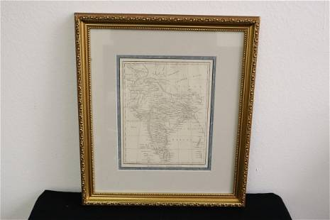 Antique map of Hindoostan/ modern India