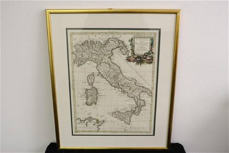 Antique map of Italy, dated 1782