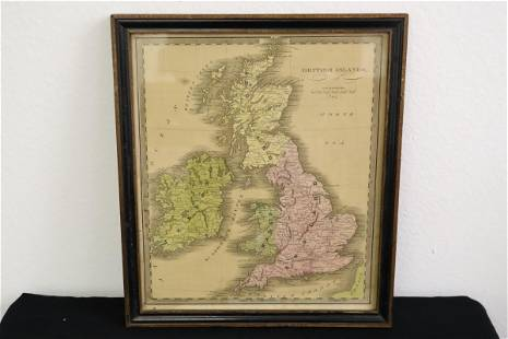 Antique hand colored British Island map dated 1840
