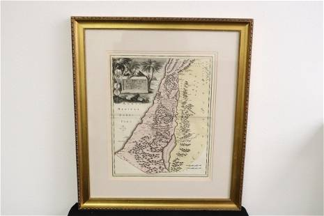 Antique map of Palestine