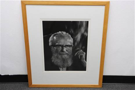 Gelatin silver print on paper by Yousuf Karsh