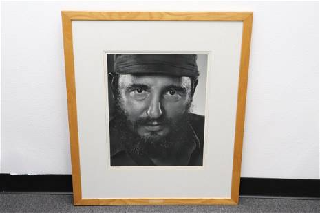 Gelatin silver print by Yousuf Karsh, signed & dated