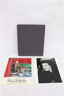 Signed print by Helmut Newton and a book