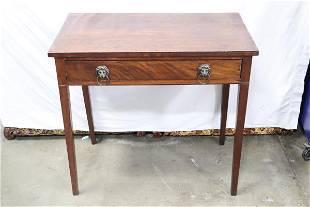 Fine 19th century mahogany entry table