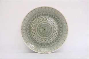 Antique Korean celadon plate