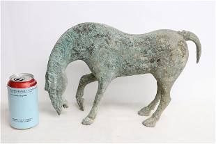 Vintage bronze sculpture of horse