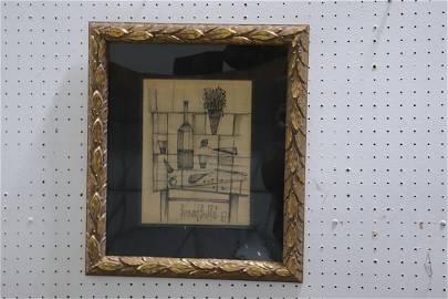 ink on paper by Bernard Buffet