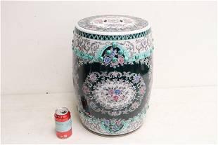 Chinese famille rose porcelain garden stool