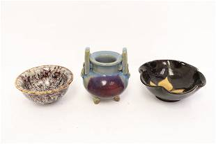 a Song style censer and 2 Song style bowls