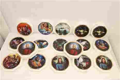 17 Star Trek collectible plates