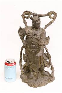 Chinese bronze sculpture of deity
