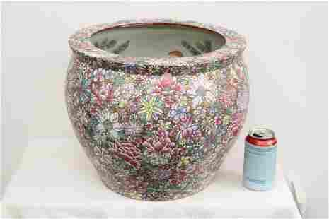 Chinese famille rose porcelain planter