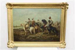 Oil on canvas signed Ad. Schreyer