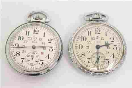 2 Elgin 17-jewel pocket watches