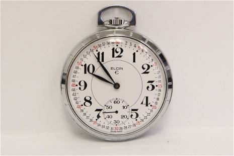 Elgin pocket watch, works at time of preview