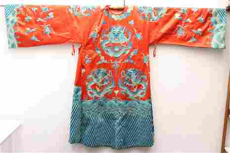 Chinese embroidery robe