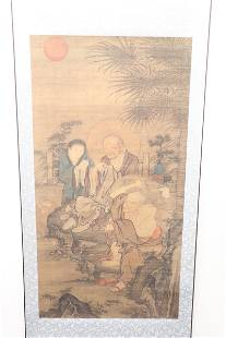 Chinese religious print scroll