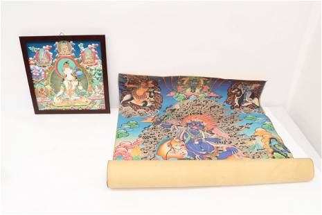 A print thangka, a tile panel