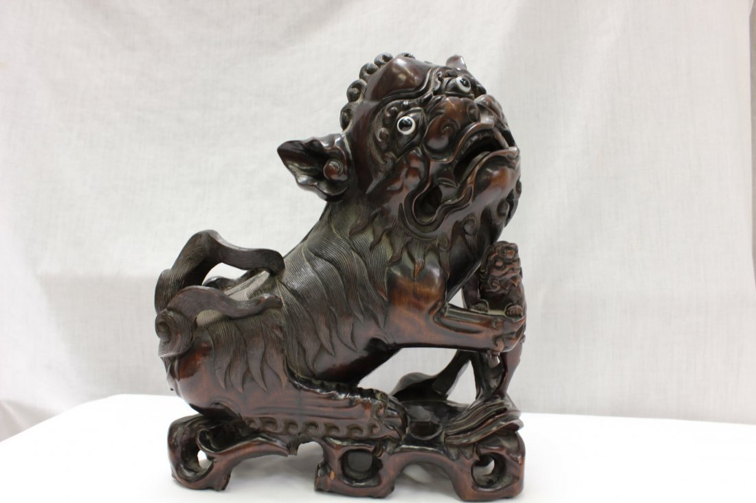 101: Chinese rosewood carved Fulion