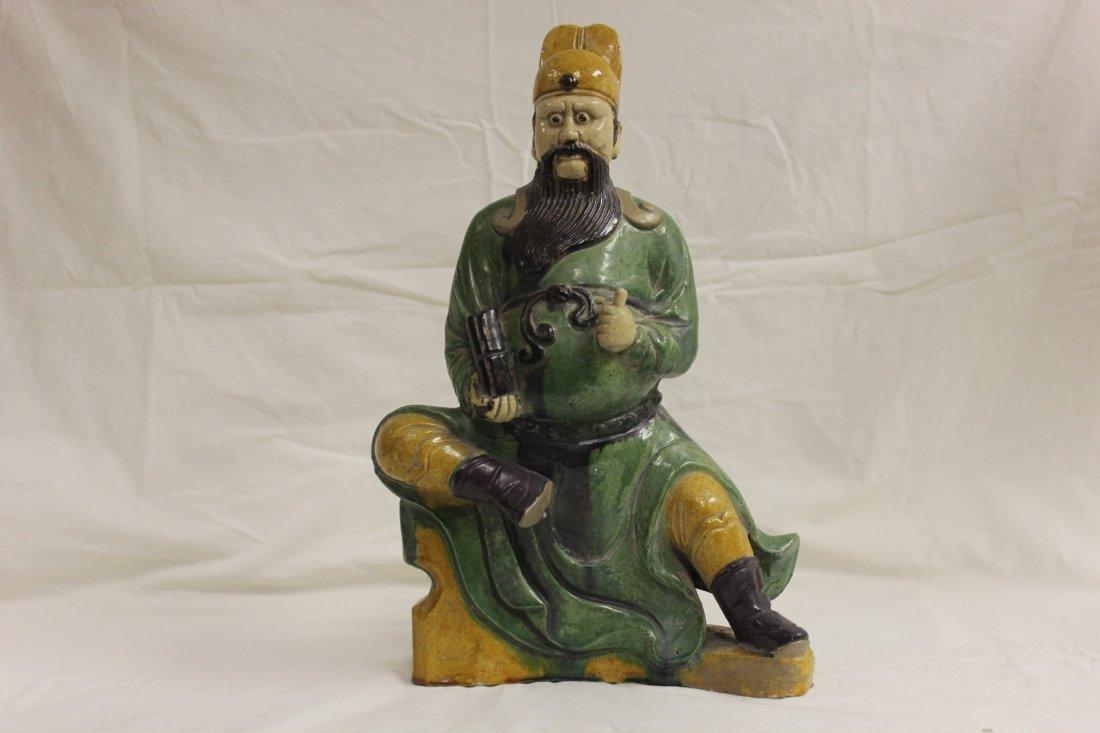 120: Chinese 19th century sancai pottery sculpture