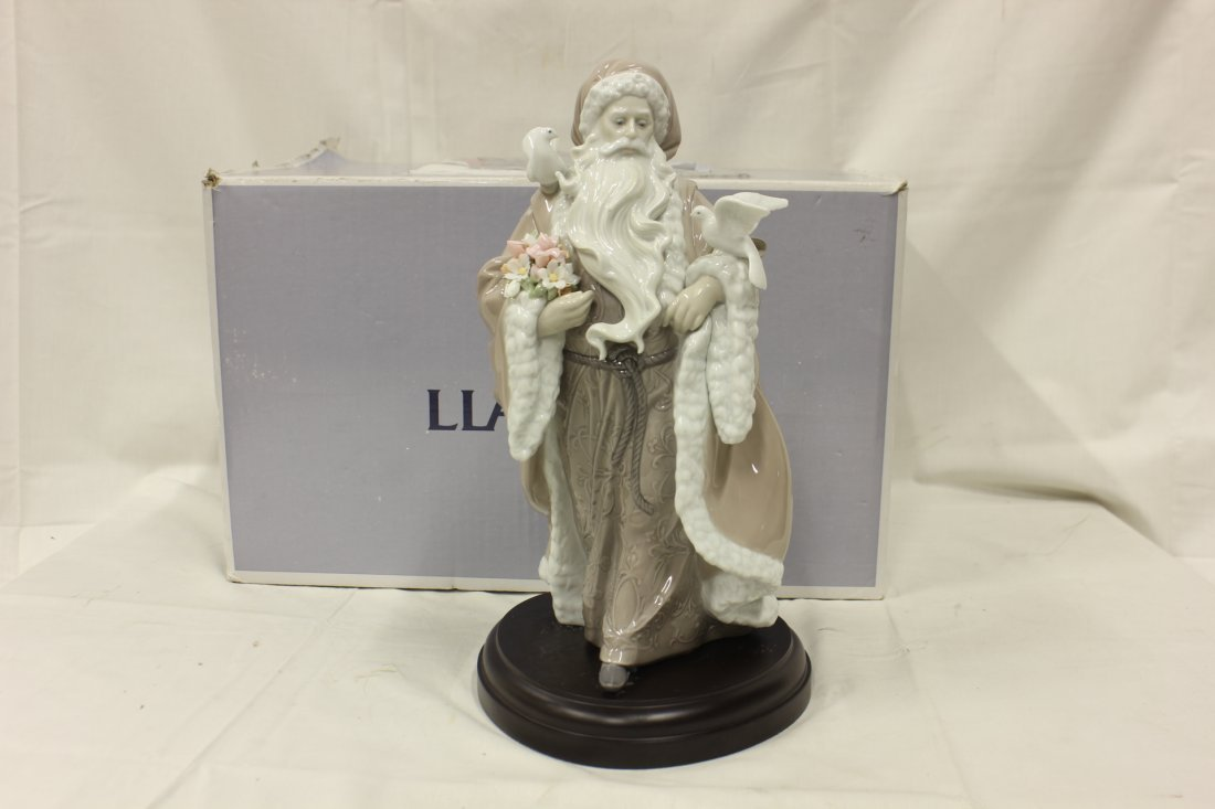 "605: Lladro ""father Christmas - spirit of nature"""