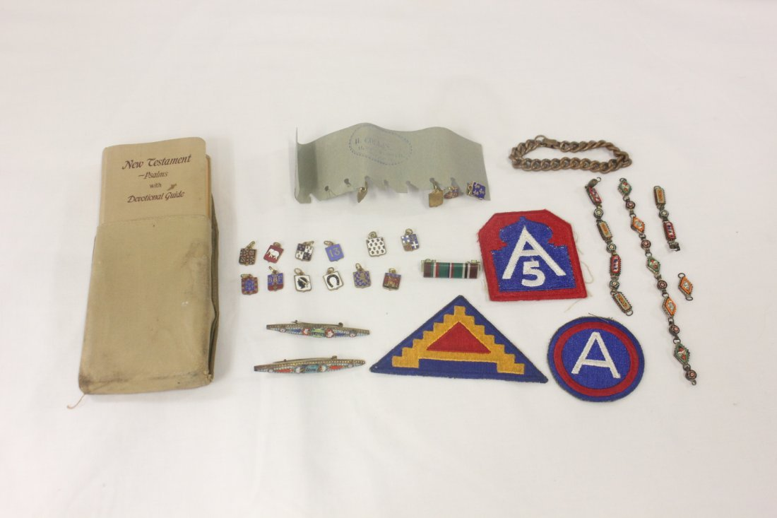113: Lot of WWII military collection