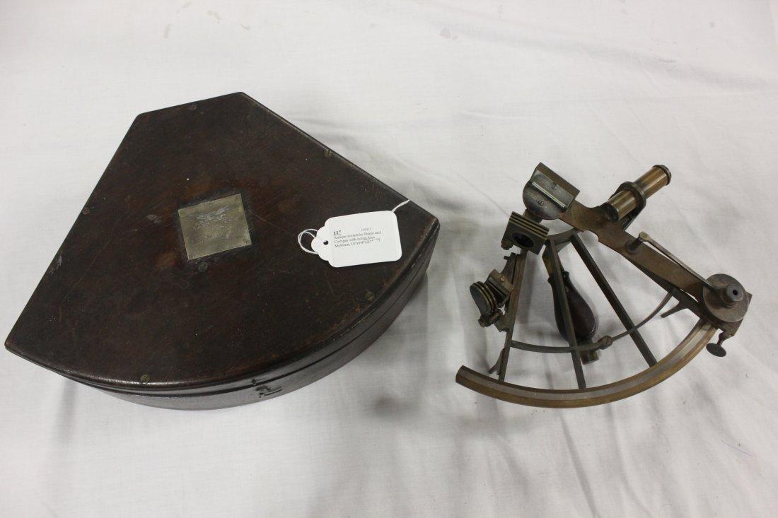 117: Antique sextant by Duren and Costigan