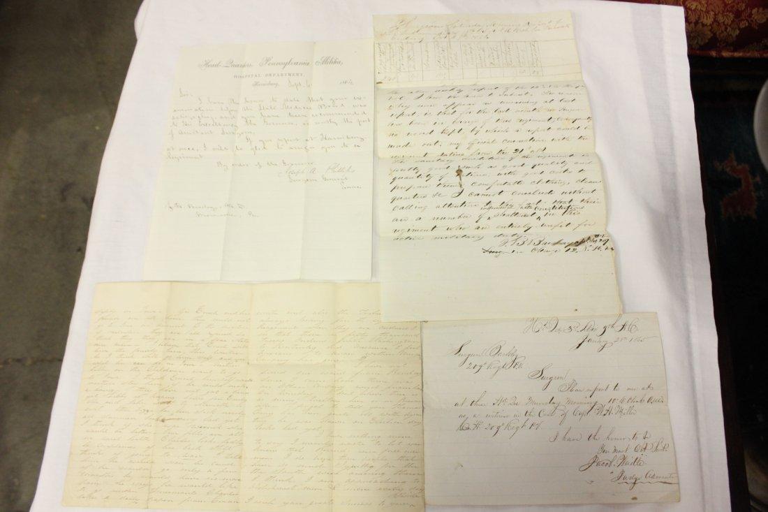 120: 4 letters signed by Civil War Union Surgeons