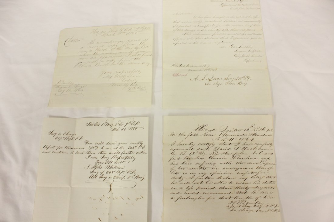 122: 4 personal letters by Union field surgeon in 1864
