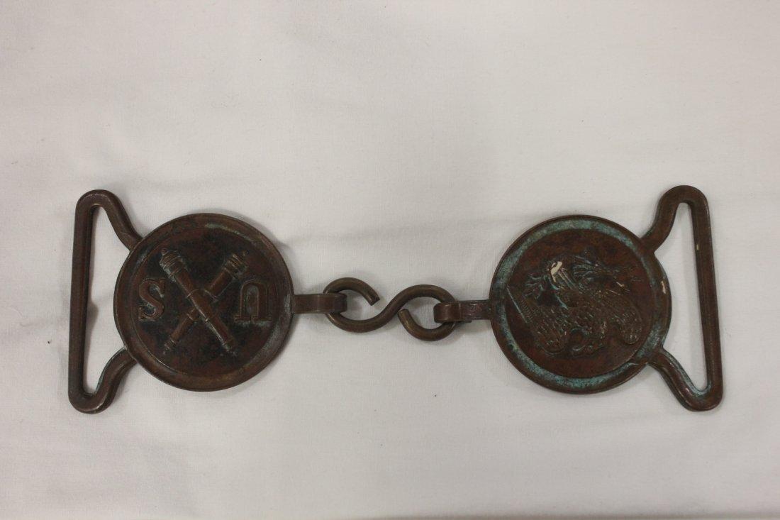 123: Civil war Union soldier belt buckle