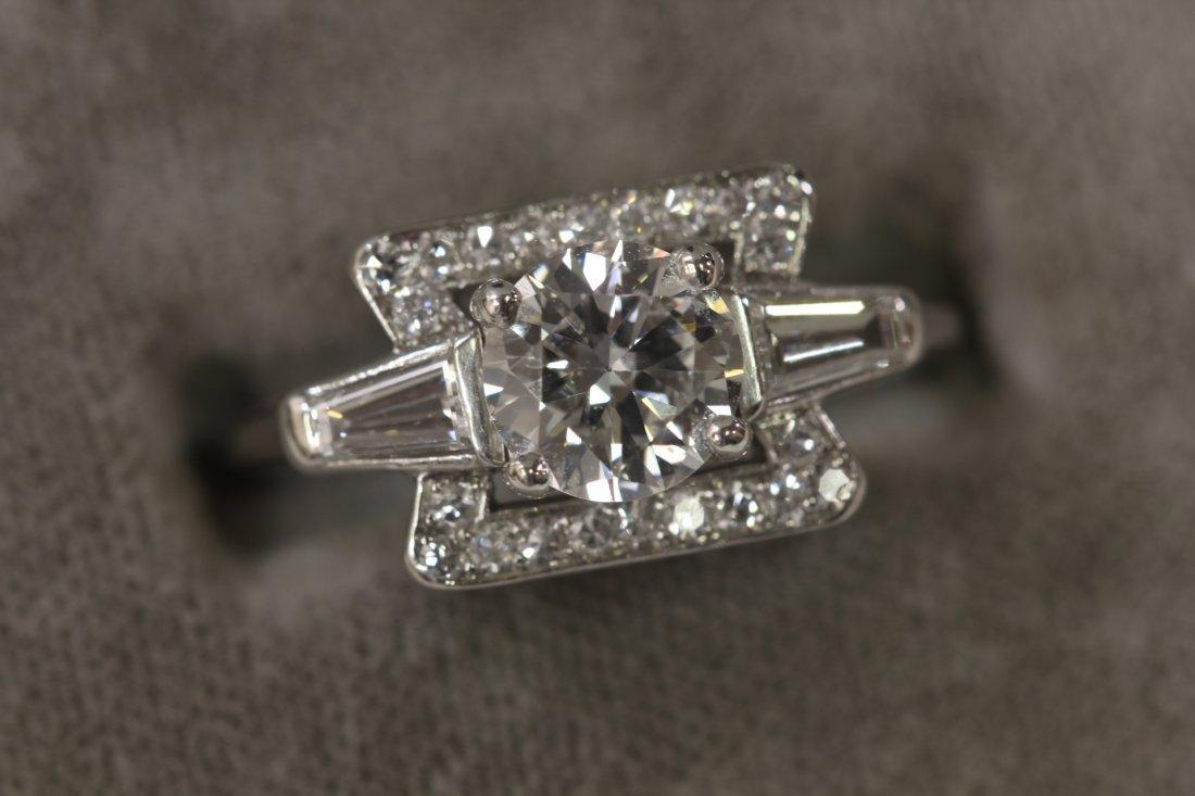 264: art deco platinum diamond ring