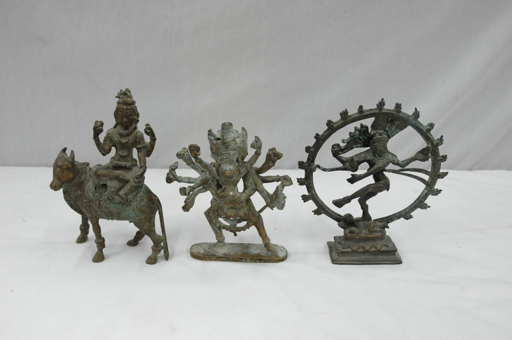105: 3 South Asia bronze deities