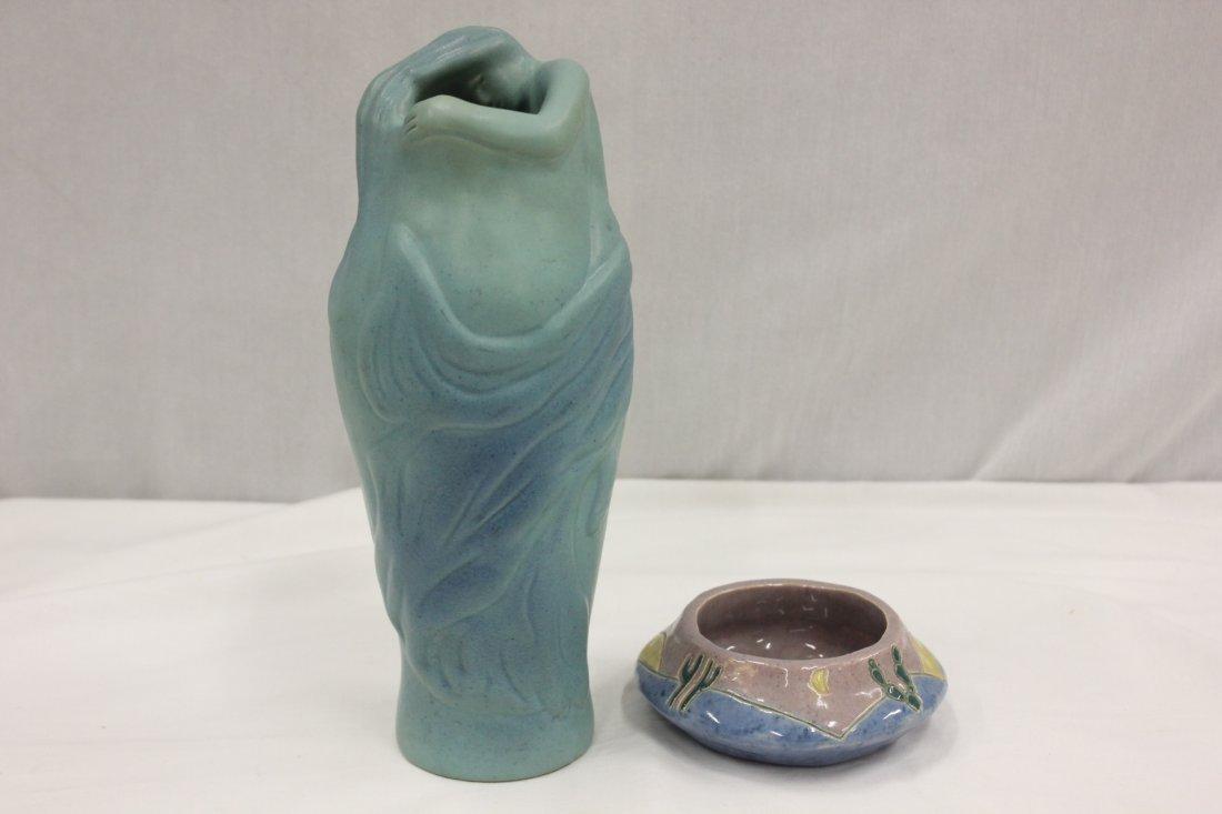 107: A Van briggle vase & a signed bowl dated 1935