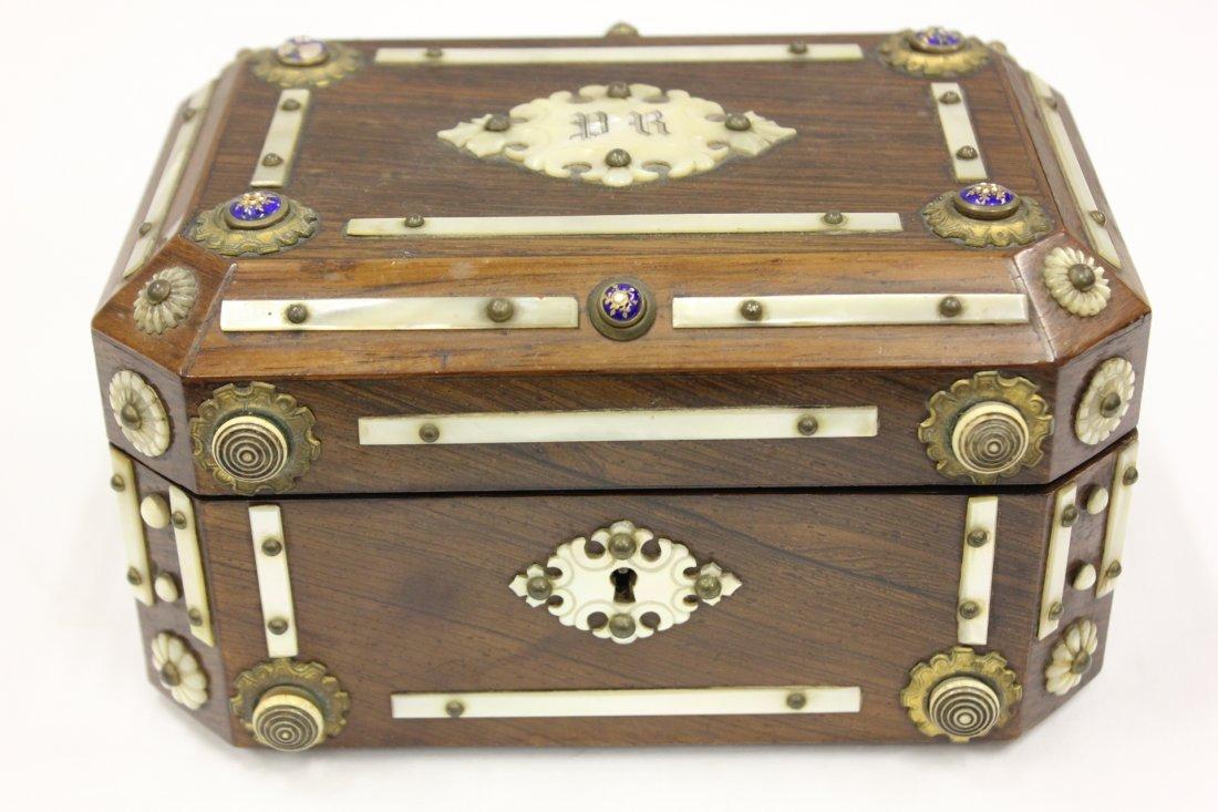 115A: Antique European rosewood box