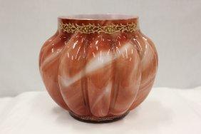 121: Loetz Marmoriertes art glass jardeniere