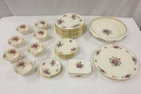 Lenox partial china set in Aurora/Lenox rose pattern