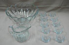 Heisey punch bowl set