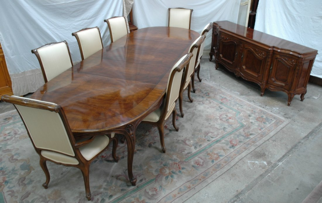 10pc walnut dining room set by Karges