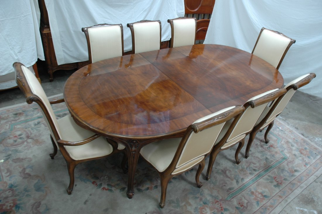 10pc walnut dining room set by Karges - 2