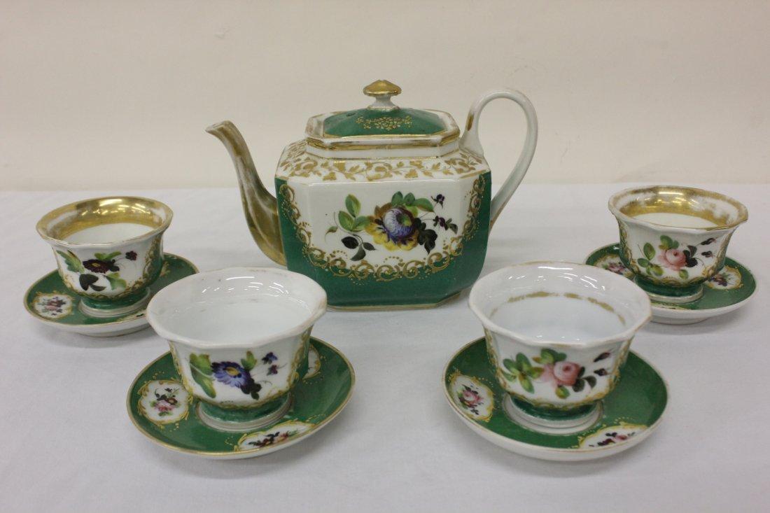 9pc antique Paris porcelain tea set