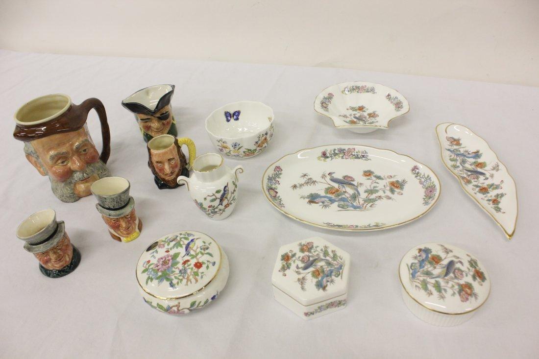 8 Wedgwood & Aynsley porcelain, & 5 Toby mugs