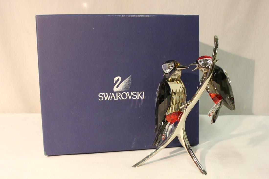 Swarovski crystal woodpeckers w/original box