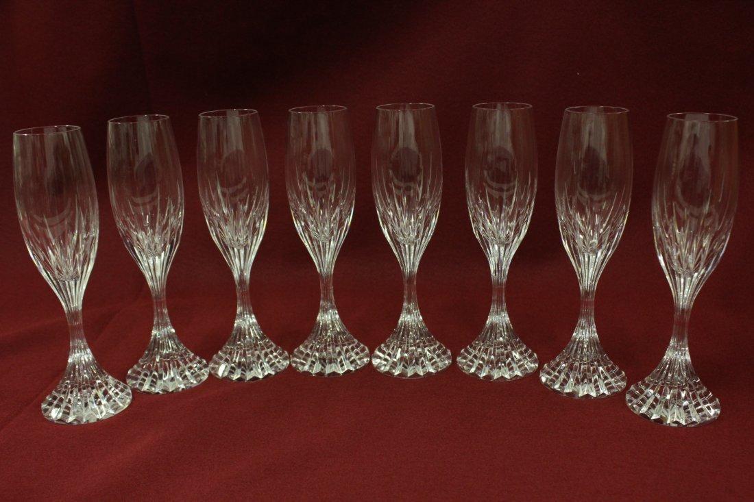 8 Baccarat crystal goblets