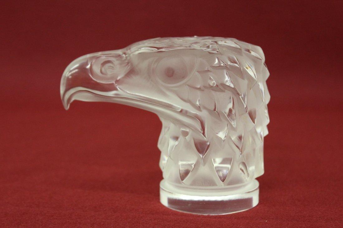 Vintage Lalique hood ornament in Falcon motif